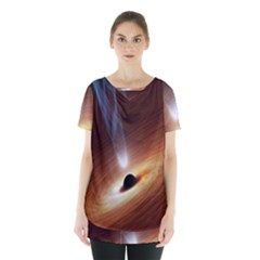 Coming Supermassive Black Hole Century Skirt Hem Sports Top by Mariart