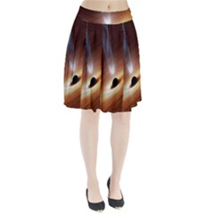Coming Supermassive Black Hole Century Pleated Skirt by Mariart