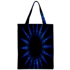 Exploding Flower Tunnel Nature Amazing Beauty Animation Blue Purple Zipper Classic Tote Bag by Mariart