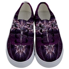 Flower Twirl Star Space Purple Kids  Classic Low Top Sneakers