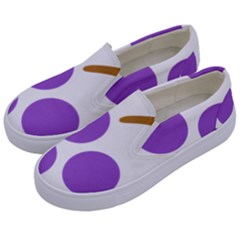 Fruit Grape Purple Kids  Canvas Slip Ons by Mariart