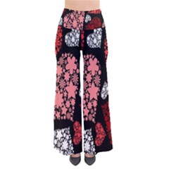 Floral Flower Heart Valentine Pants by Mariart