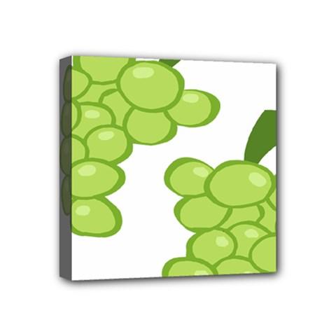 Fruit Green Grape Mini Canvas 4  X 4  by Mariart