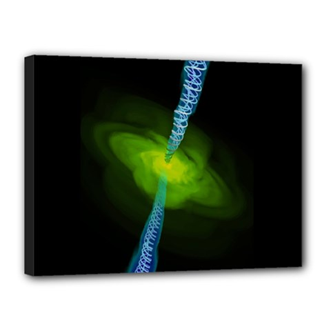 Gas Yellow Falling Into Black Hole Canvas 16  X 12  by Mariart