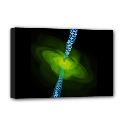 Gas Yellow Falling Into Black Hole Deluxe Canvas 18  X 12   by Mariart