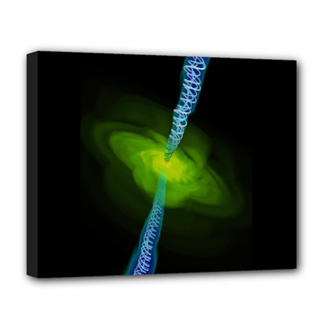 Gas Yellow Falling Into Black Hole Deluxe Canvas 20  X 16   by Mariart