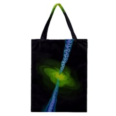 Gas Yellow Falling Into Black Hole Classic Tote Bag by Mariart