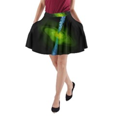 Gas Yellow Falling Into Black Hole A Line Pocket Skirt by Mariart