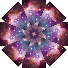 Galaxy Space Star Light Purple Straight Umbrellas by Mariart