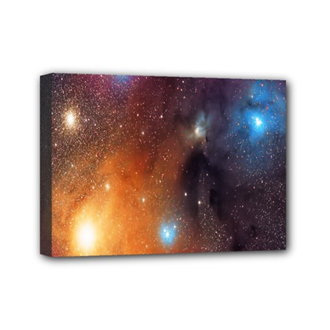 Galaxy Space Star Light Mini Canvas 7  X 5  by Mariart