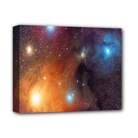 Galaxy Space Star Light Deluxe Canvas 14  X 11  by Mariart