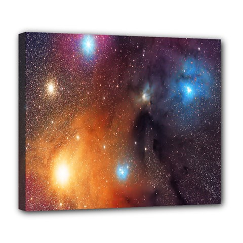 Galaxy Space Star Light Deluxe Canvas 24  X 20   by Mariart