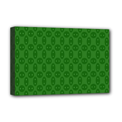 Green Seed Polka Deluxe Canvas 18  X 12   by Mariart