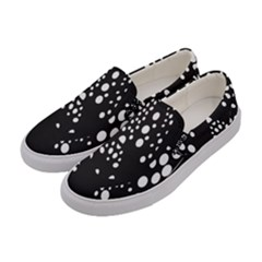 Helmet Original Diffuse Black White Space Women s Canvas Slip Ons by Mariart