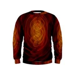 High Res Nostars Orange Gold Kids  Sweatshirt by Mariart