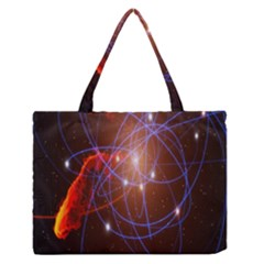 Highest Resolution Version Space Net Zipper Medium Tote Bag by Mariart