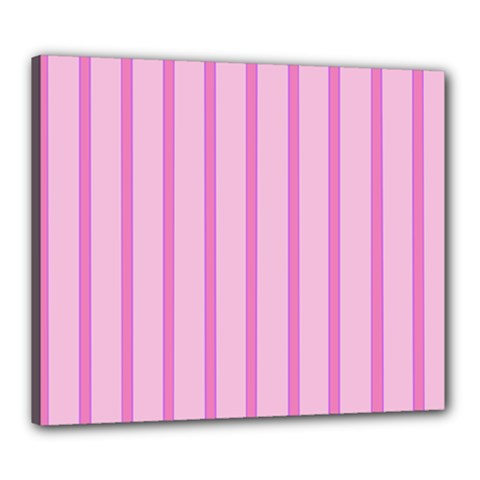 Line Pink Vertical Canvas 24  X 20  by Mariart