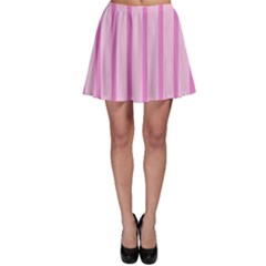 Line Pink Vertical Skater Skirt by Mariart