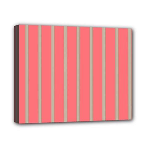 Line Red Grey Vertical Canvas 10  X 8  by Mariart