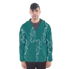 Leaf Green Blue Sexy Hooded Wind Breaker (men)