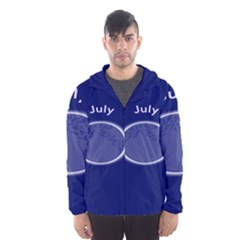 Moon July Blue Space Hooded Wind Breaker (men) by Mariart