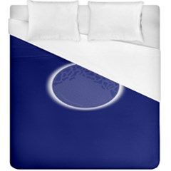Moon July Blue Space Duvet Cover (king Size) by Mariart