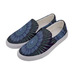 Peaceful Flower Formation Sparkling Space Women s Canvas Slip Ons by Mariart