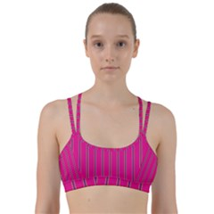 Pink Line Vertical Purple Yellow Fushia Line Them Up Sports Bra