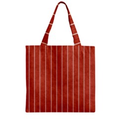 Line Vertical Orange Zipper Grocery Tote Bag by Mariart
