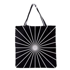 Ray White Black Line Space Grocery Tote Bag by Mariart