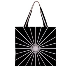 Ray White Black Line Space Zipper Grocery Tote Bag by Mariart