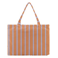 Rayures Bleu Orange Medium Tote Bag by Mariart