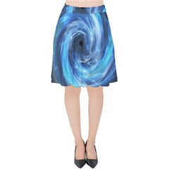 Hole Space Galaxy Star Planet Velvet High Waist Skirt by Mariart