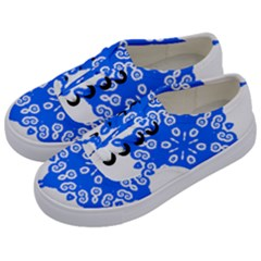 Snowflake Art Blue Cool Polka Dots Kids  Classic Low Top Sneakers by Mariart