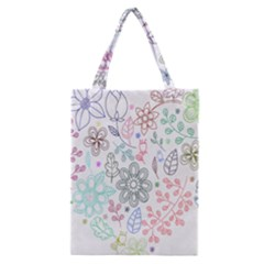 Prismatic Neon Floral Heart Love Valentine Flourish Rainbow Classic Tote Bag by Mariart