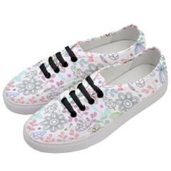 Prismatic Neon Floral Heart Love Valentine Flourish Rainbow Women s Classic Low Top Sneakers by Mariart