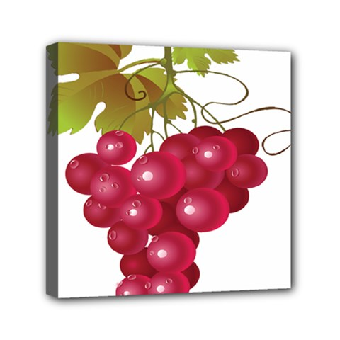 Red Fruit Grape Mini Canvas 6  X 6  by Mariart