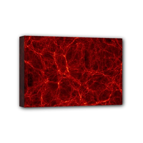 Simulation Red Water Waves Light Mini Canvas 6  X 4  by Mariart