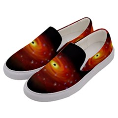 Space Galaxy Black Sun Men s Canvas Slip Ons by Mariart