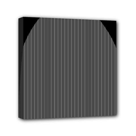 Space Line Grey Black Mini Canvas 6  X 6  by Mariart