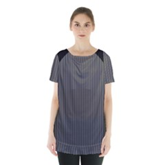 Space Line Grey Black Skirt Hem Sports Top by Mariart