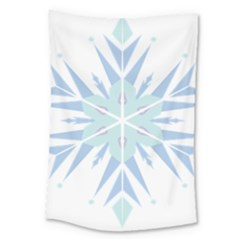 Snowflakes Star Blue Triangle Large Tapestry