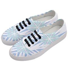 Snowflakes Star Blue Triangle Women s Classic Low Top Sneakers by Mariart