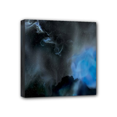 Space Star Blue Sky Mini Canvas 4  X 4  by Mariart