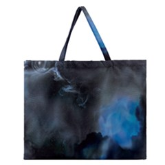 Space Star Blue Sky Zipper Large Tote Bag by Mariart