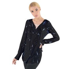 Space Warp Speed Hyperspace Through Starfield Nebula Space Star Line Light Hole Tie Up Tee by Mariart