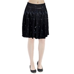 Space Warp Speed Hyperspace Through Starfield Nebula Space Star Line Light Hole Pleated Skirt by Mariart