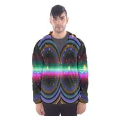 Spectrum Space Line Rainbow Hole Hooded Wind Breaker (men) by Mariart