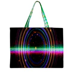 Spectrum Space Line Rainbow Hole Medium Tote Bag by Mariart