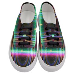 Spectrum Space Line Rainbow Hole Women s Classic Low Top Sneakers